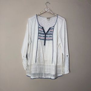 Lucky Brand Plus Tunic Blouse | Size 2X